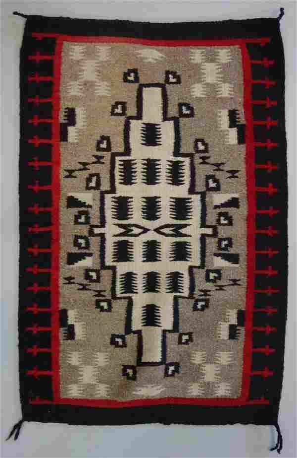 Navajo Hand Woven Wool Rug Weaving