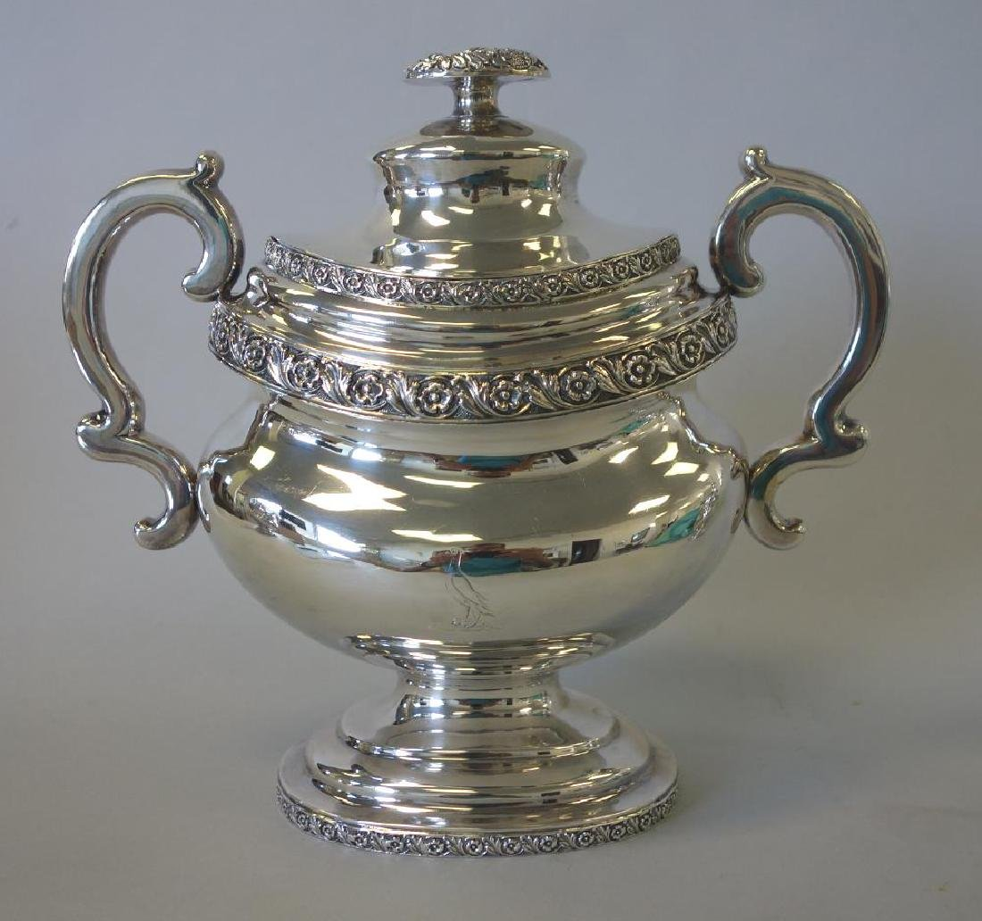 Peter Chitry (American) Coin Silver Tea Set, c1815 - 3