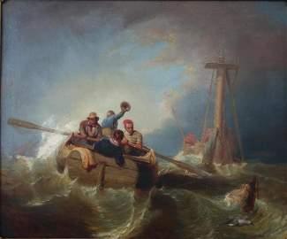 William Tolman Carlton (1816-1888, MA) Rough Seas