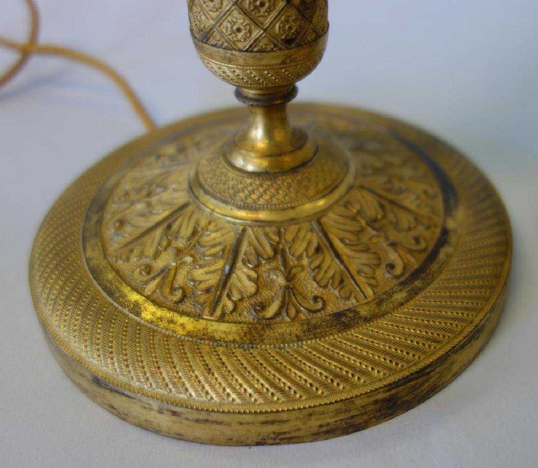 French Gilt Bronze Candlesticks / Lamps - 4