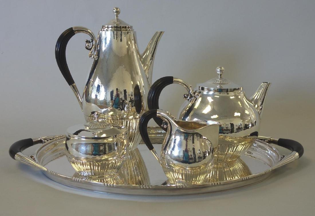 Georg Jensen Sterling Cosmos Coffee Tea Service