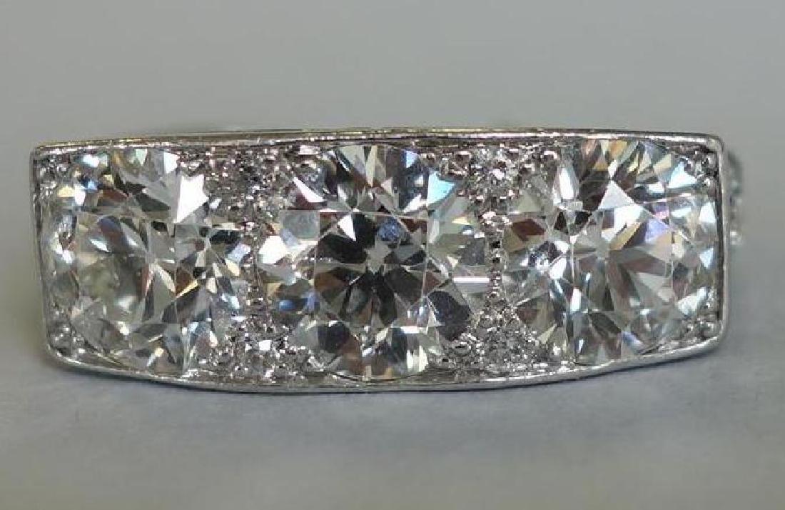 Ladies Platinum Diamond Ring, 4 Carats +