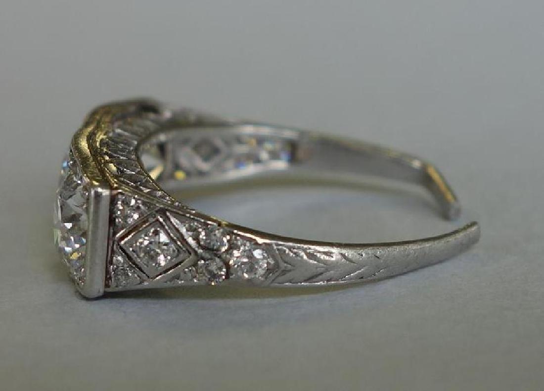Ladies Platinum Diamond Ring, 4 Carats + - 3