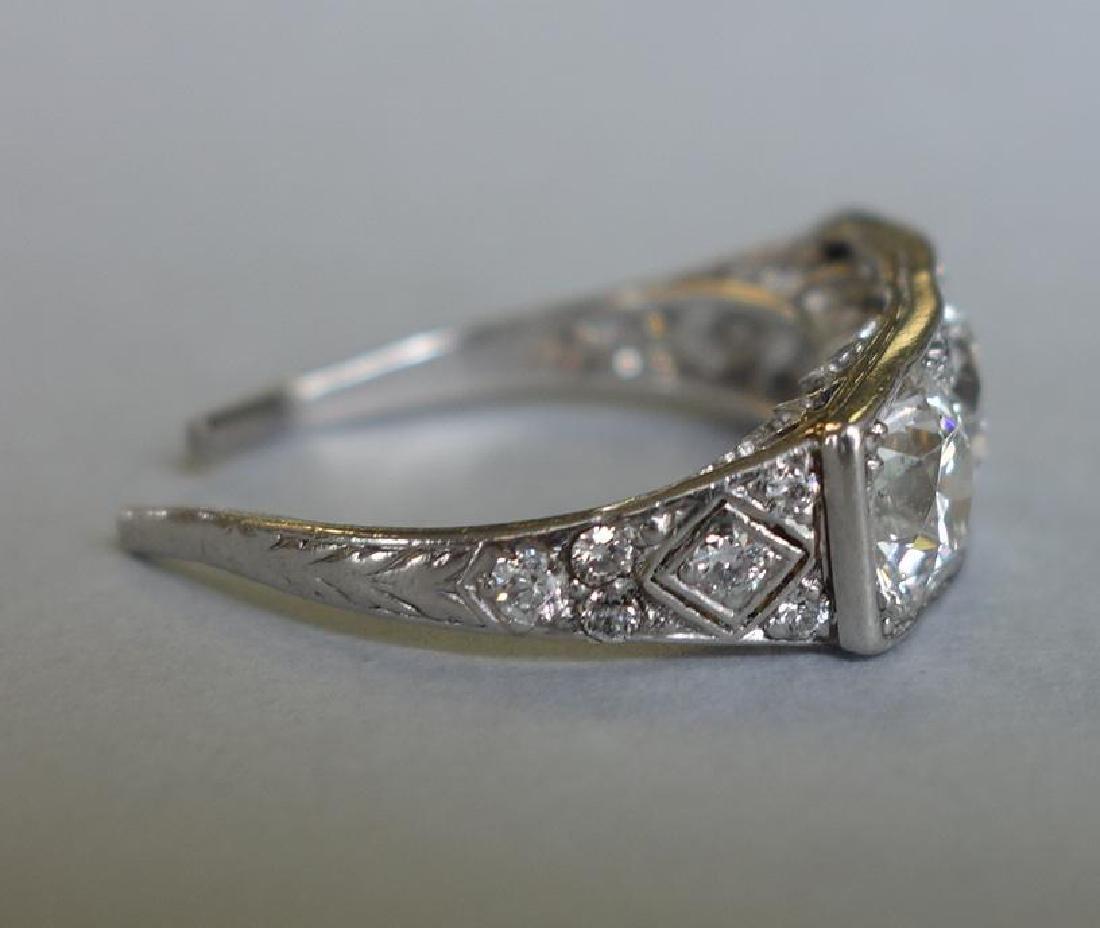Ladies Platinum Diamond Ring, 4 Carats + - 4