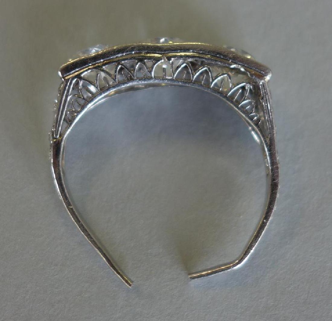 Ladies Platinum Diamond Ring, 4 Carats + - 5