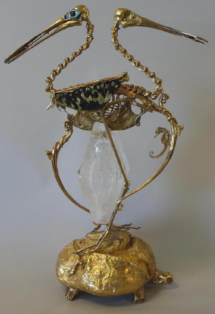 Salvador Dali, Le Pain et Le Vin, 18K Gold