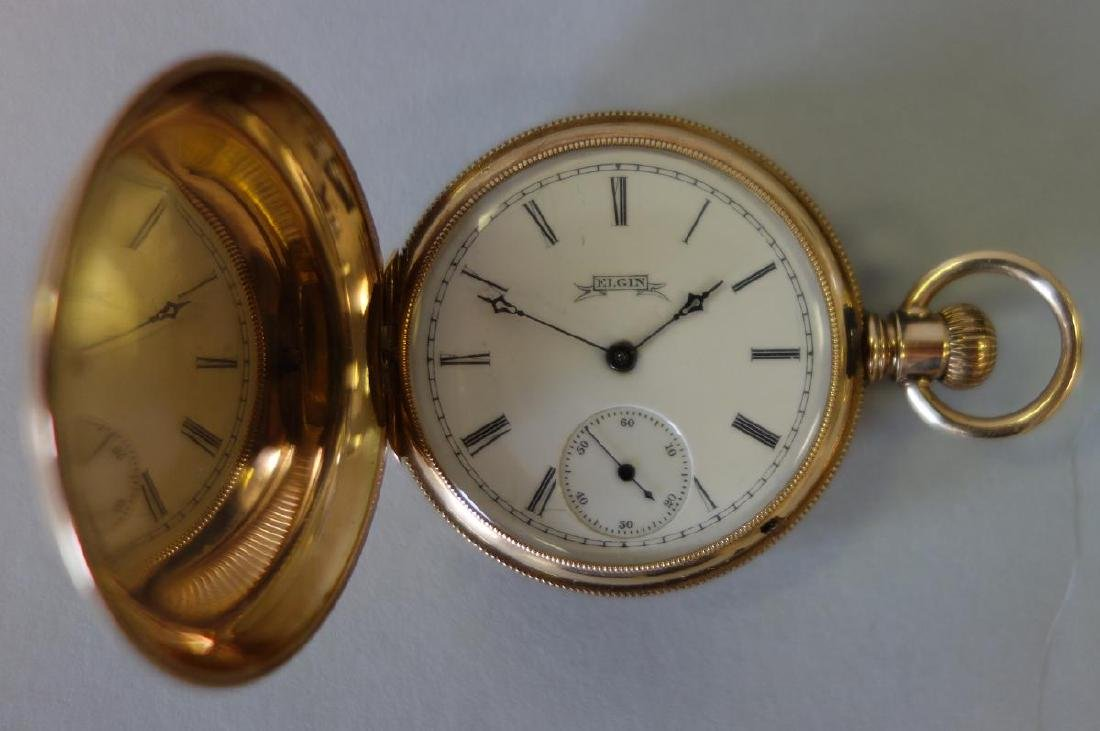 19thc Elgin 14K Gold Pocket Watch