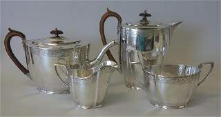 English Sterling Coffee / Tea Service, Nayler Bros