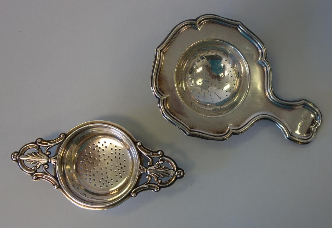 2 Tea Strainers, Christofle & American Sterling