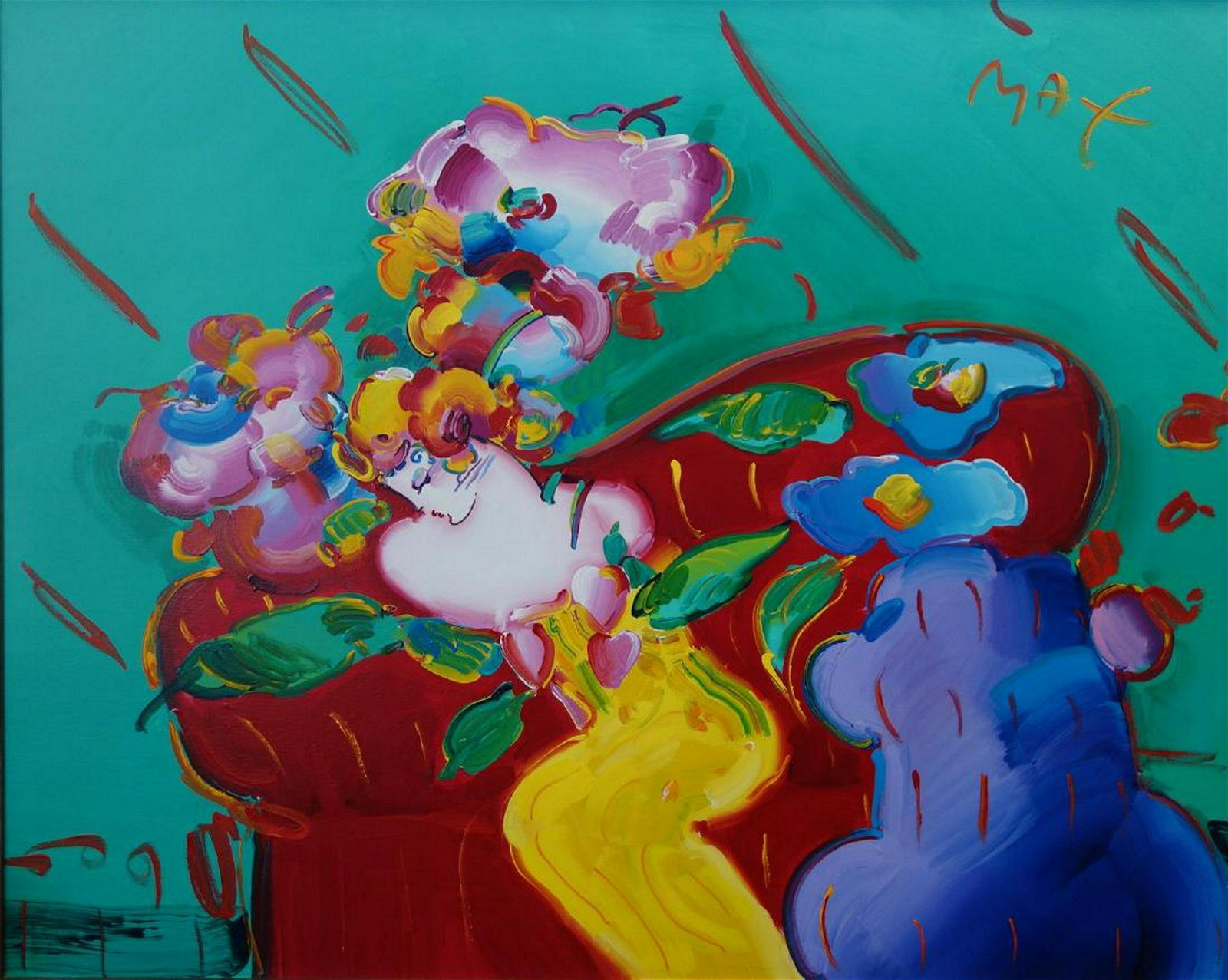 Peter Max (b-1937) Flower Lady, Version 1 #1, 1993