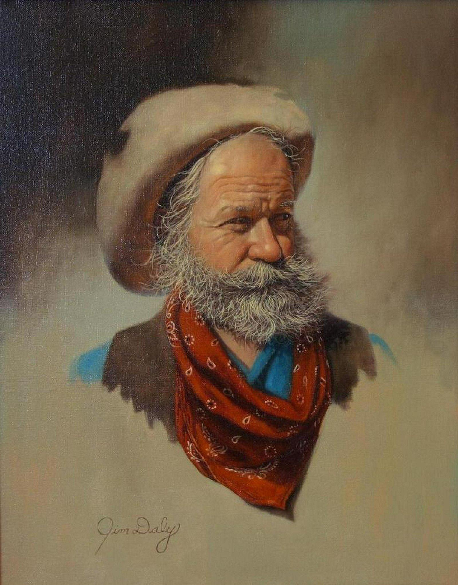 Jim Daly (b-1940) Cowboy Portrait