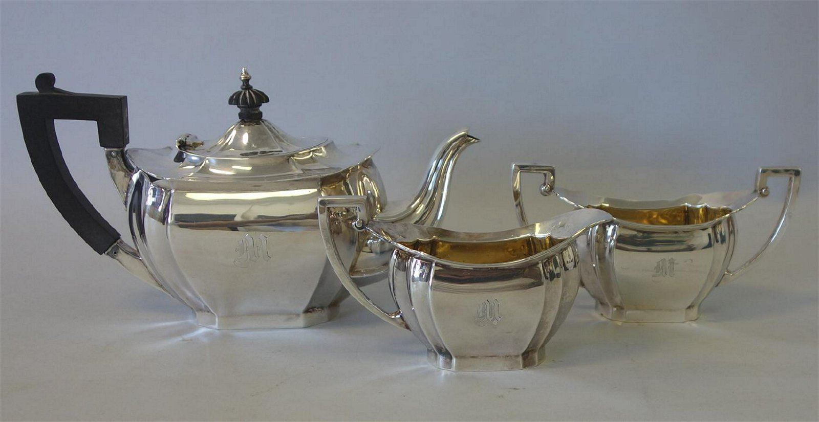 Sterling 3-Piece Tea Set by Whiting