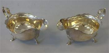 English Sterling Gravy Boats Adie Brothers Pair