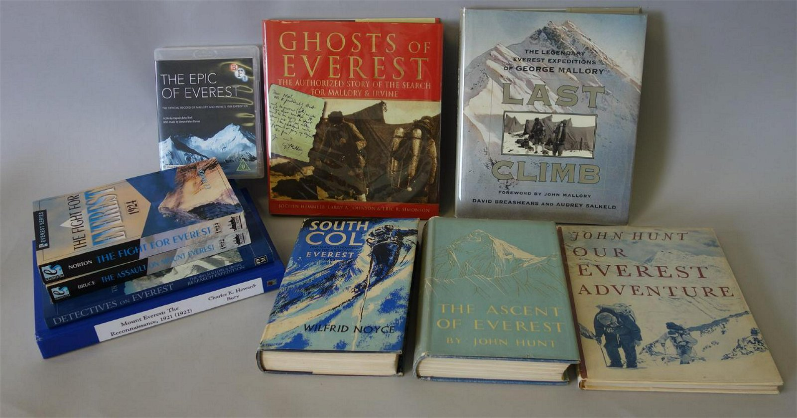 9 Mount Everest Reference Books + DVD