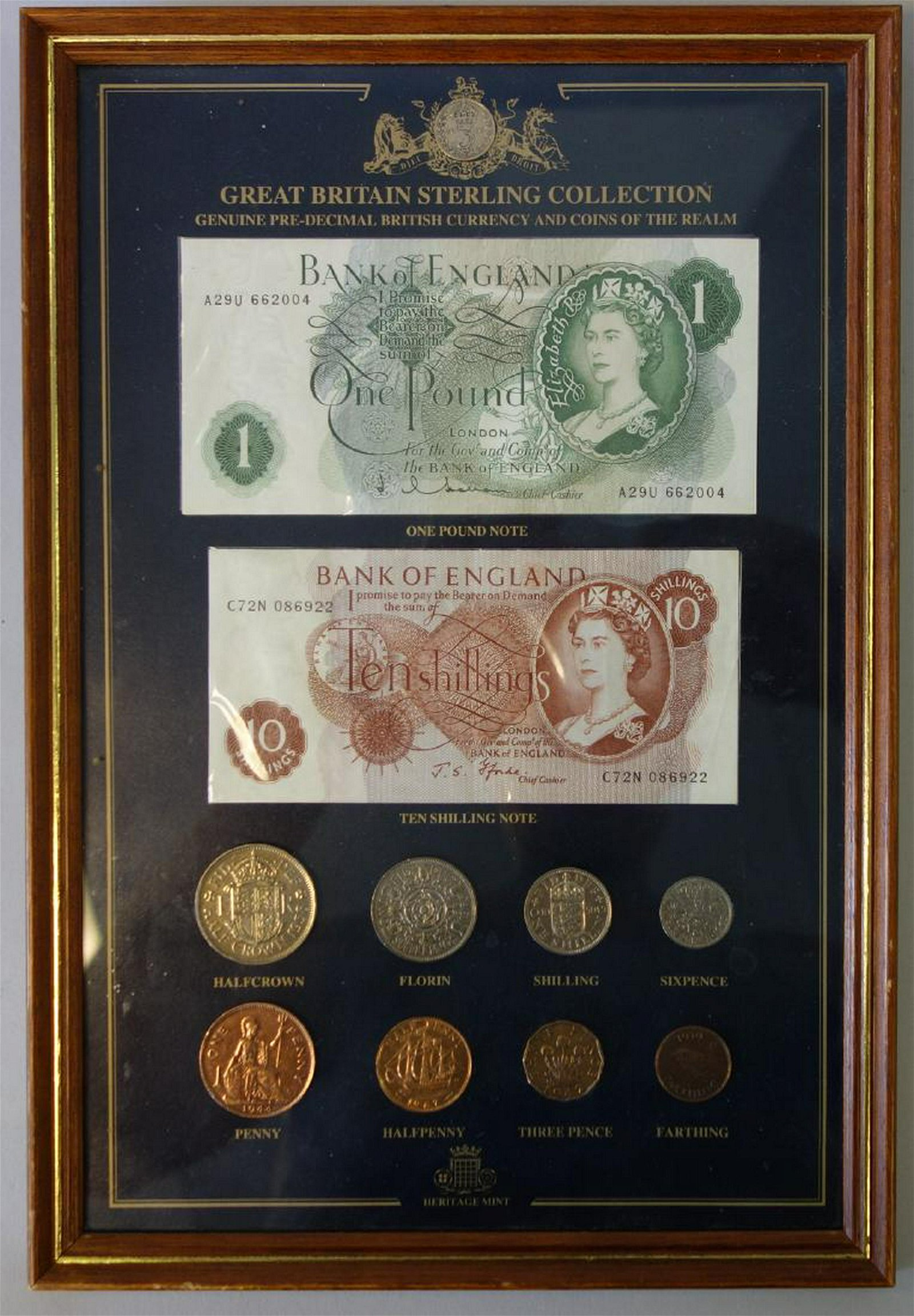 Great Britain Sterling Collection Currency Set