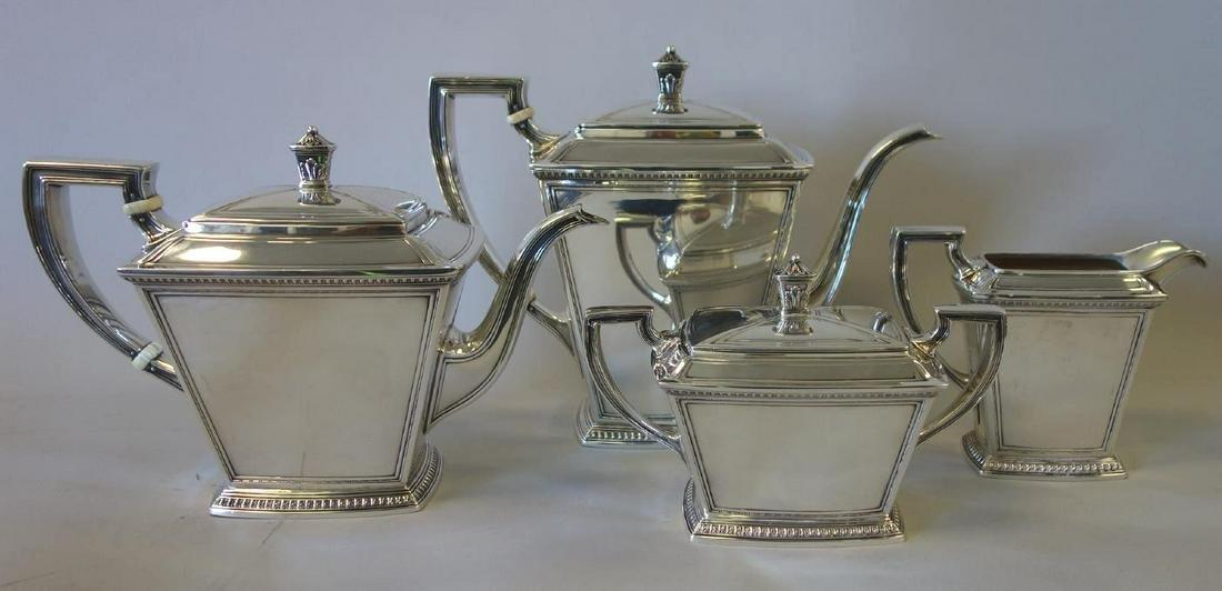 Sterling 4-Piece Coffee / Tea Service Pantheon Ptn