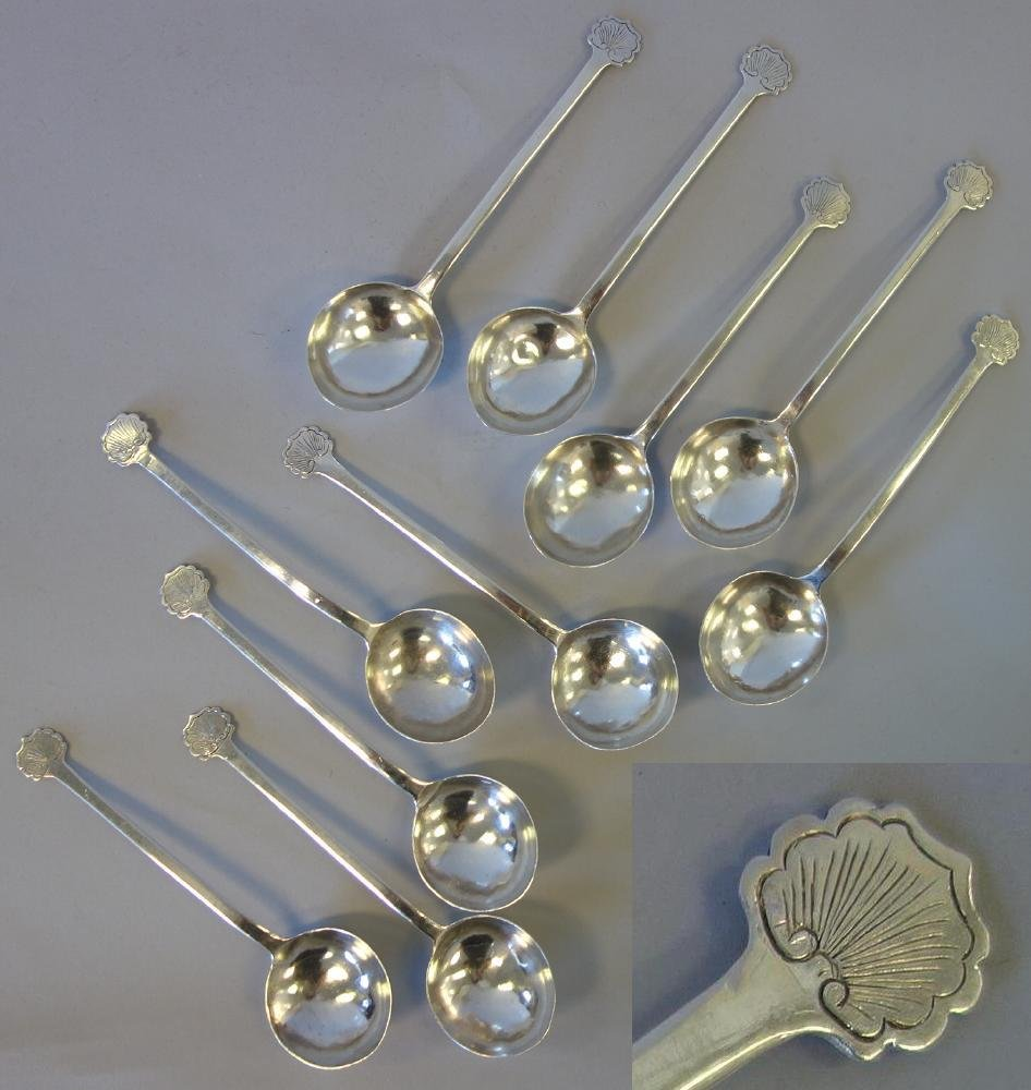 10-18thc Coin Silver Soup Spoons