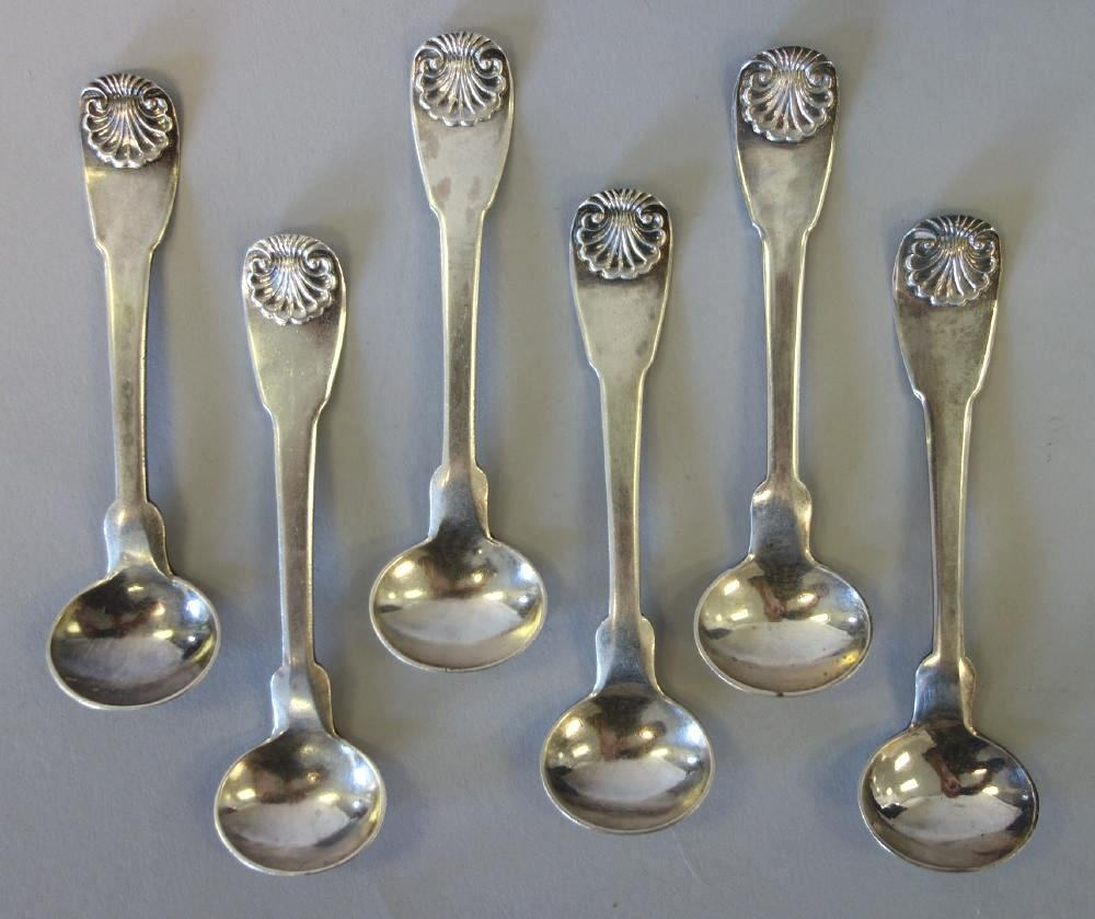 John Wesley Forbes, 6 Coin Silver Salt Spoons
