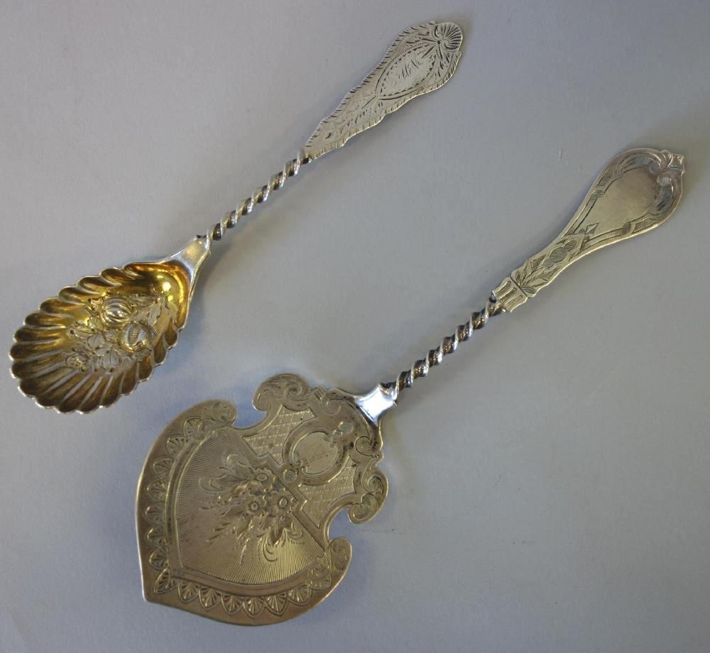Albert Coles Coin Silver Serving Pieces, New York