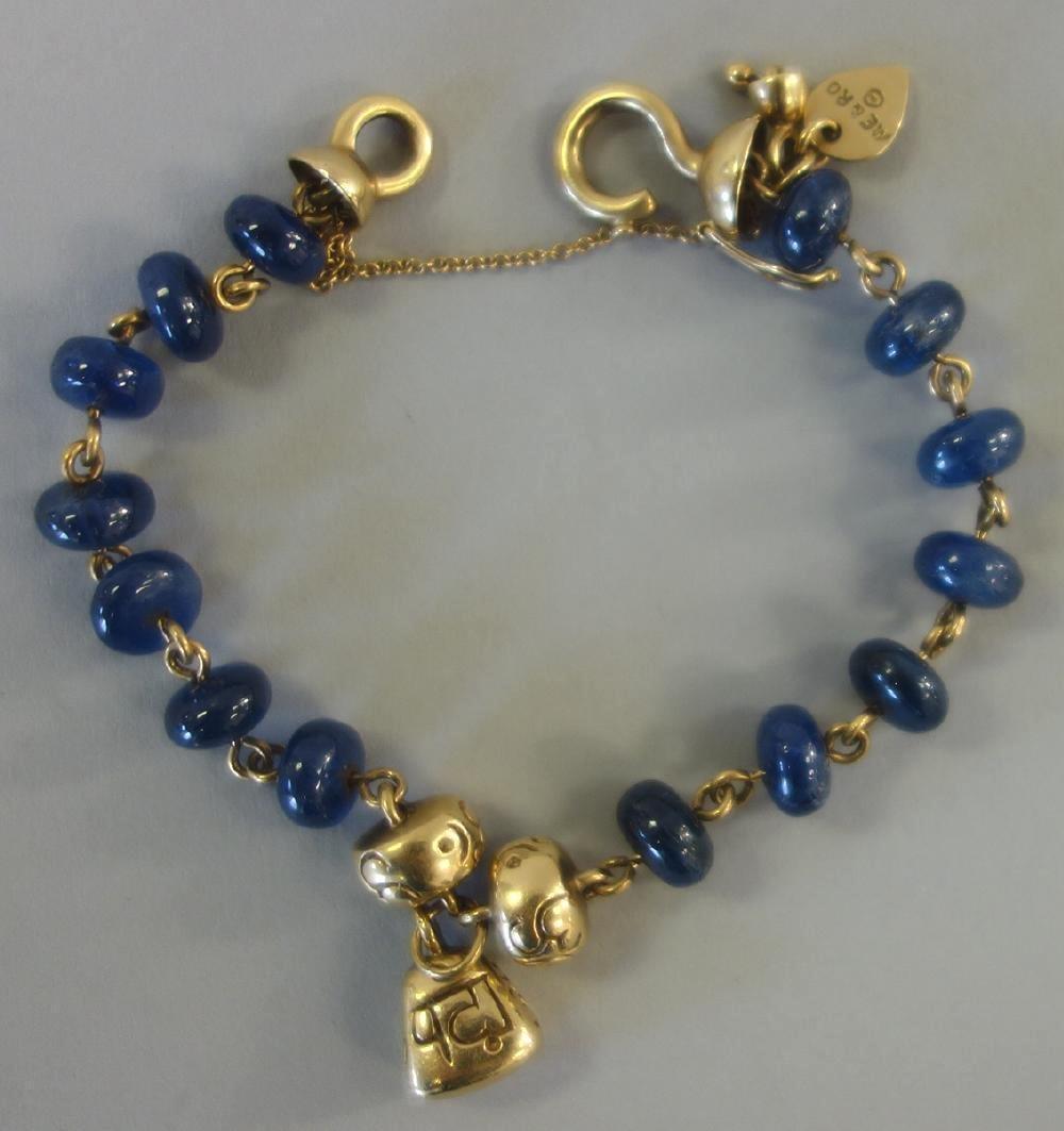 Me & Ro, 18K Gold & Sapphire Bracelet, New York