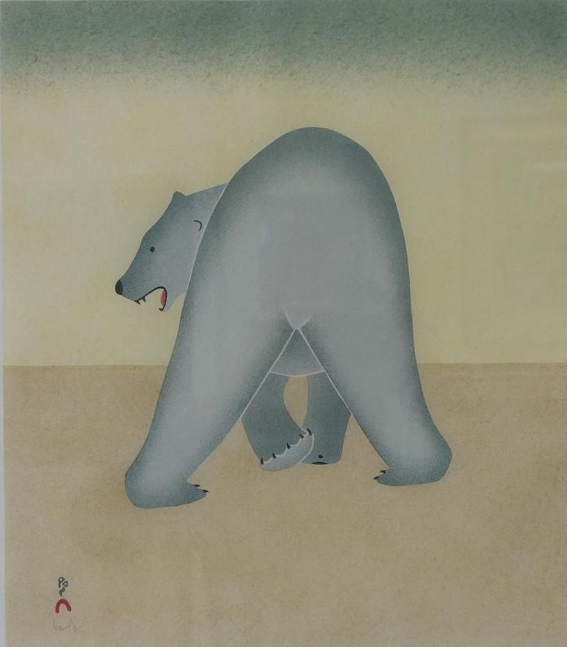 Kananginak Pootoogook, Solitary Bear, 2010