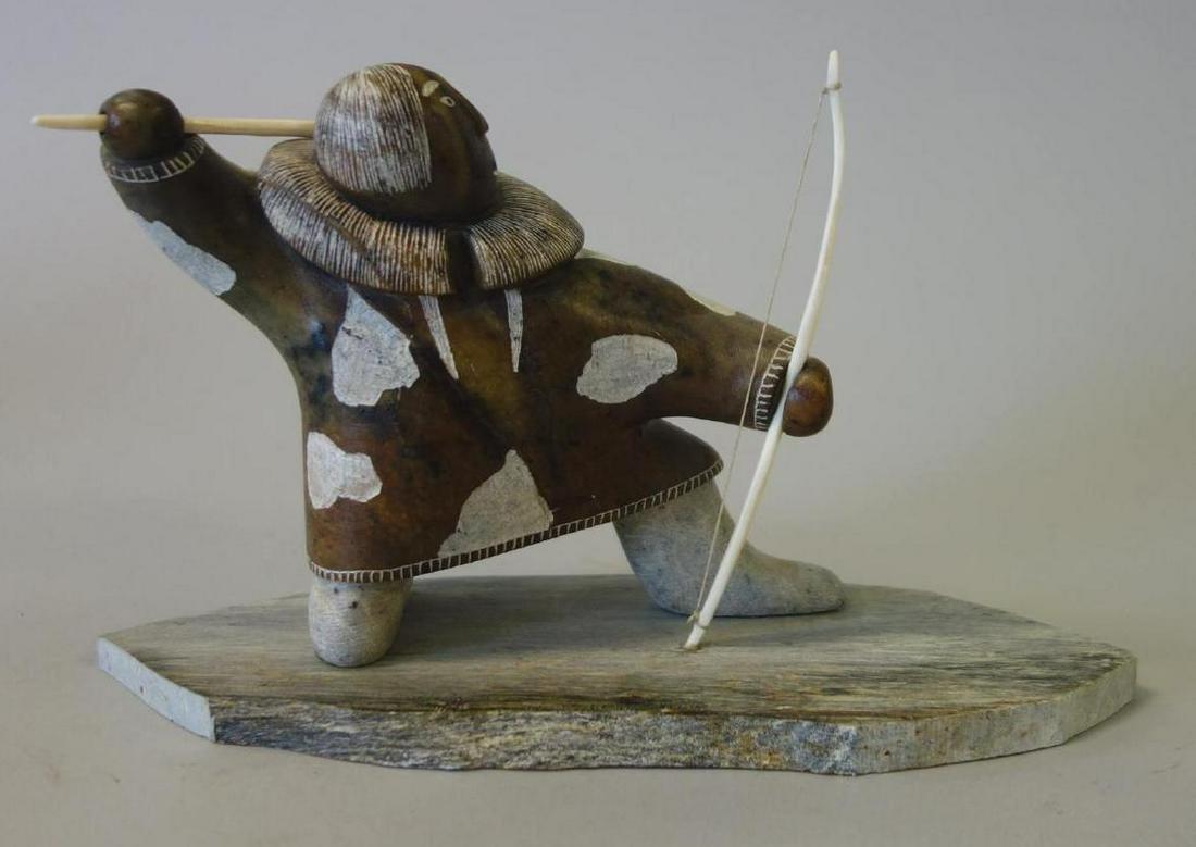 Glenn Tingook (1938-2000) Inuit Stone Carving