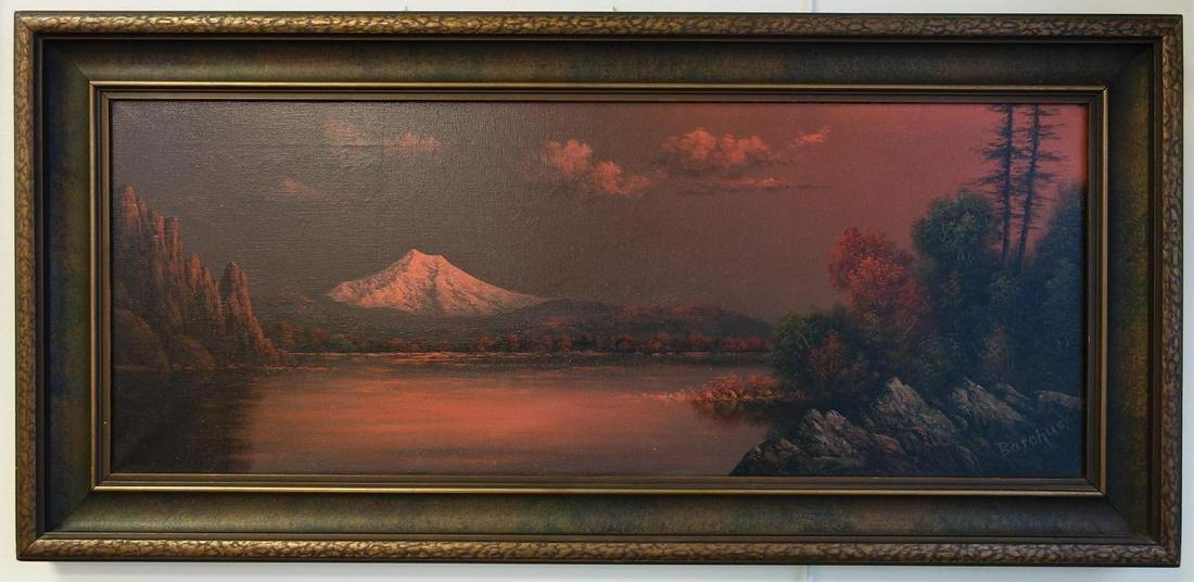 Eliza Barchus (1857-1959) Mount Hood Afterglow