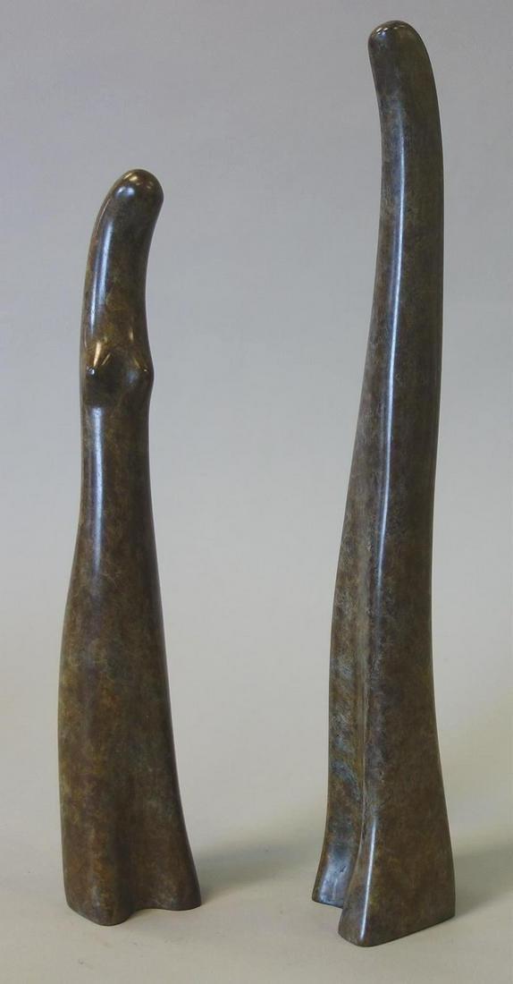 Ruth Bloch (b-1951) Bronze, Together & Apart