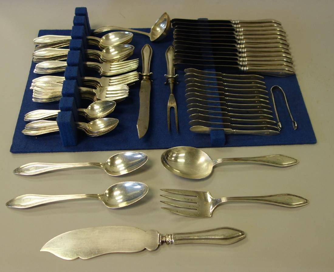 Towle Sterling Flatware for 12, Mary Chilton, 81Pc