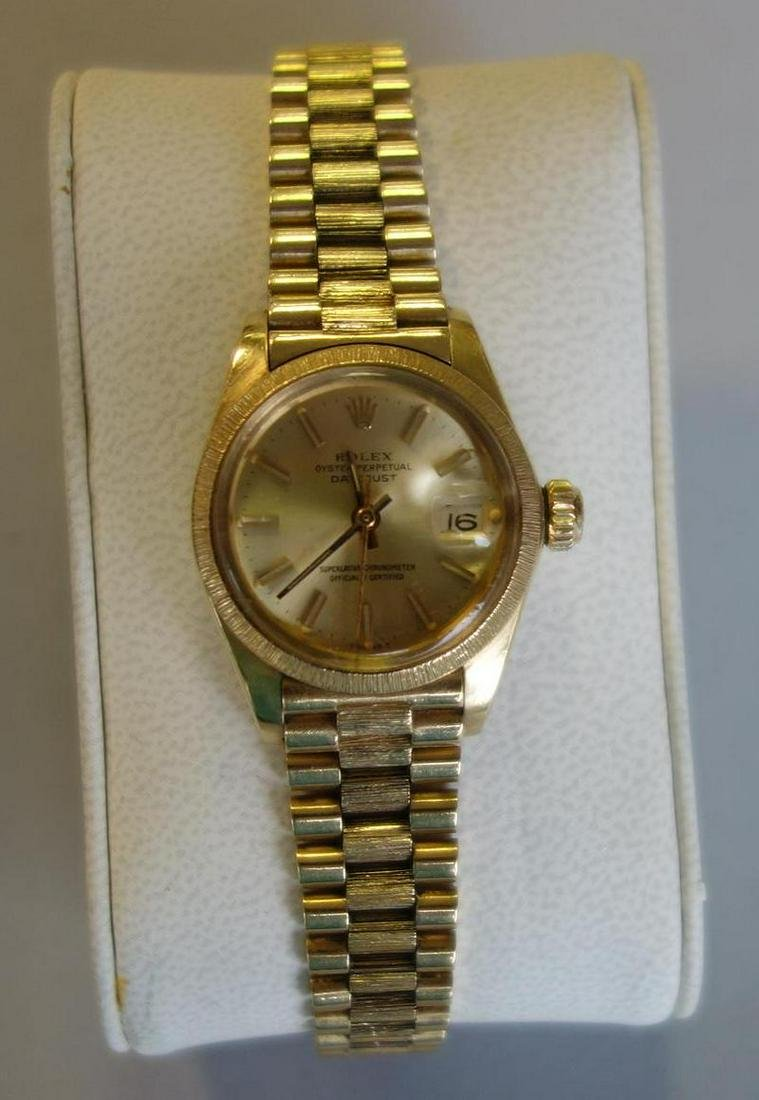 Ladies Rolex 18K Gold President Perpetual Datejust