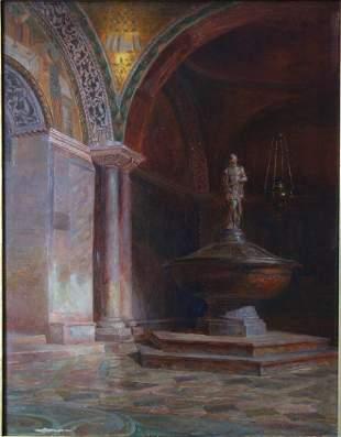 Alexander Grinager (1865-1949) Venice Interior