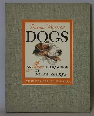 Diana Thorne, Dogs, An Album of Drawings, 1944