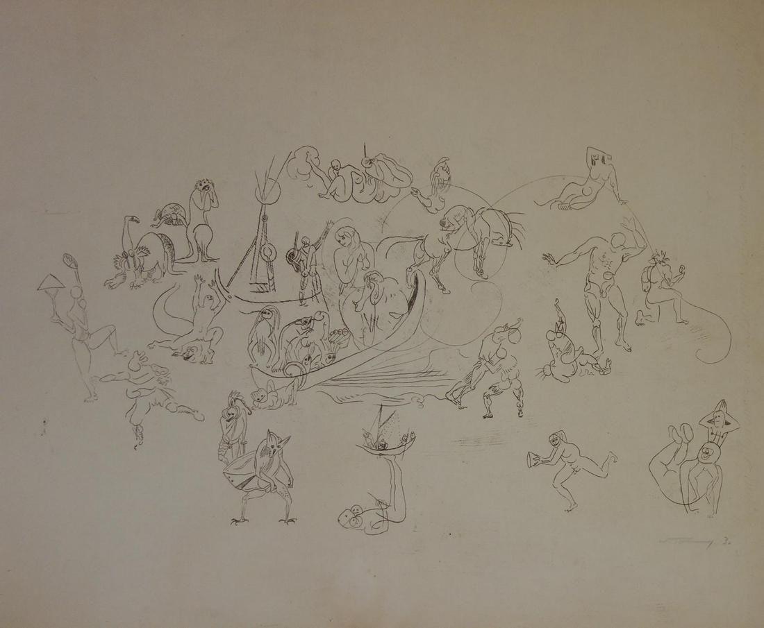 Kristians Tonny (1907-1997) Nude Allegorical Scene