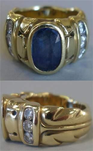 Elizabeth Rand 18K Gold, Sapphire & Diamond Ring