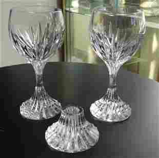 Baccarat Massena Wine Goblets & Candleholder