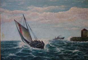 Hans Jorgensen, Lifeboat, Marine Painting