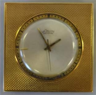 LeCoultre Memovox Swiss Made Travel Clock