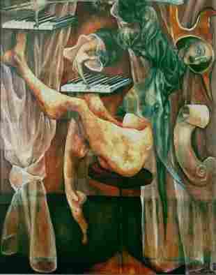 Turovsky, Framed Oil on Canvas