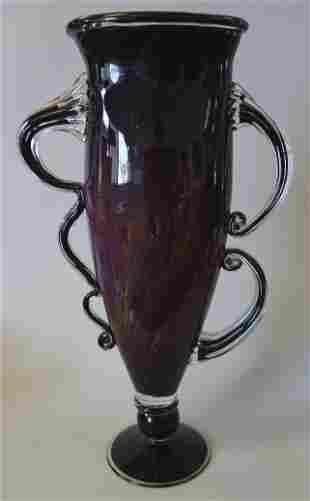 Chip Scarborough, Studio Art Glass Vase Sculpture