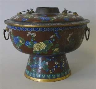 Fine Chinese Cloisonne Enamel Censer