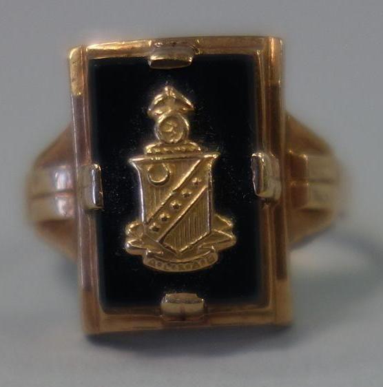 10K Gold & Onyx Sorority / Fraternity Ring