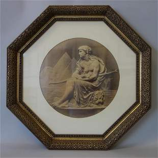 19th Lithograph Egypt Afrique in Gilt Wood Frame