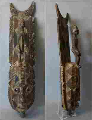 African Carved Wood Headdress Mask