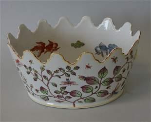 Chinese Enameled Porcelain Monteith, Signed