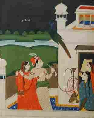 Indian Mughal Painting, Royal Couple