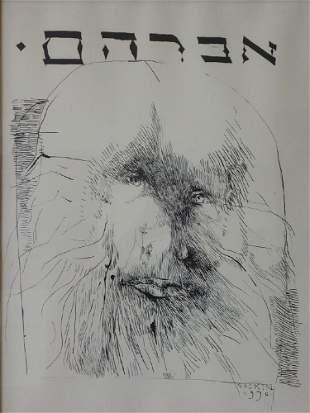 Leonard Baskin (1922-2000) Lithograph, Abraham