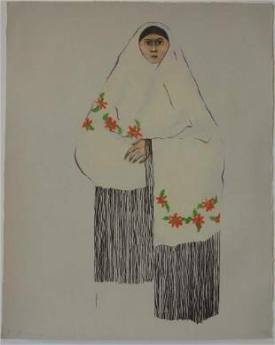 R C Gorman (1932-2005) Taos Pueblo Woman, 22/50