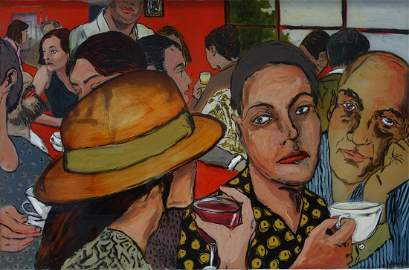 Christopher Kroehler (b-1966) Painting on Glass