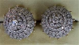 Diamond & 18K Gold Earrings / Ear Clips