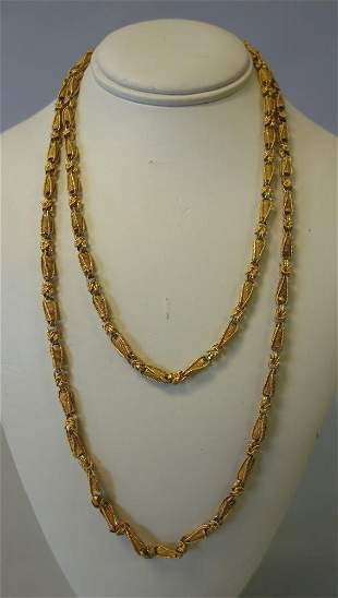 18K Gold Open-Work Necklace, Persian Motif